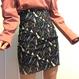 シンプルラインタイトミニスカート