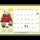 【予約受付中】運がもちあが〜る!もちくん年中行事卓上カレンダー2019