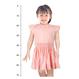 ピンクドット柄のスモッキング刺繍ワンピース(90-95cm)