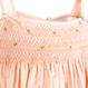 リボンがポイント!花柄のスモッキング刺繍ワンピース(90-95cm)