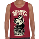 """Clean Up the OCEAN"" Tank Tops / Red"