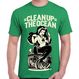 """Clean Up the OCEAN"" Tee / Antique Irish Green"