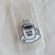 バウの「コーヒー君」のiPhoneカバー 5, 5s, SE, 6, 6s, 7 あります。 白と黒  のコピー  のコピー
