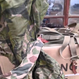 中国人民解放軍 両面タイプ81式四色迷彩偽装服上下セット