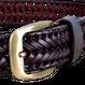 レザー メッシュ ベルト 編み込み ゴルフ デザイン 革 メンズ 幅3.5cm 長さ120cm
