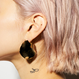 plate earrings