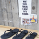 BACK STRAP BEACH SANDALS BLACK
