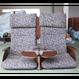 腰掛 2人掛け用(瑠璃_パープルブルー) 九州新幹線800系  新幹線 座席 椅子<代引き不可>【TO002】