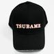 九州新幹線800系つばめ-TSUBAMEロゴ(白×オレンジ)黒キャップ 【TE022】