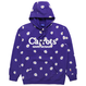 Carrots by Anwar Carrots   Carrots × Mark Mcnairy ALL OVER DAISY WORDMARK HOODIE (PURPLE)