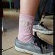 パールビーズラメ靴下