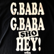 "ジャイアント馬場 ""BABA BABA HEY!"" tee-shirt(black)"