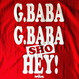 "ジャイアント馬場 ""BABA BABA HEY!"" tee-shirt(red)"