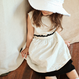 【送料無料】reversible skirt (black×ivory)