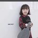(即納♡)(kids☆)チェックシャツワンピ+ブラックベスト付  (レッド)
