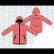 ducksday Rain jacket Funky red ( 8y / 10y / 12y )