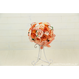 「受注生産」和紙ラウンドブーケ・橙(商品番号:bouquet-pro002or)
