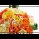 「受注生産」和紙ラウンドブーケ・黄橙(商品番号:bouquet-pro002yo)