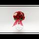 「受注生産」和紙ラウンドブーケ・赤(商品番号:bouquet-pro002r)