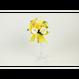 【即日発送可】和紙ラウンドブーケ・黄 (商品番号:bouquet-002y)