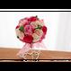「受注生産」和紙ラウンドブーケ・ピンク(商品番号:bouquet-pro002p)