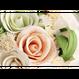 「受注生産」和紙ラウンドブーケ・白 (商品番号:bouquet-pro002w)