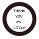 THANK YOU my LOVest(Metal badges)