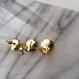 thread pierce/earrings  MULCH COLOR