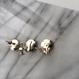 thread pierce / earrings MOSS GREEN