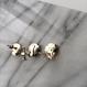 thread pierce / earrings GRAY