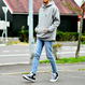 GMCAL Boxlogo Embroidered hooded sweatshirt【Gray】