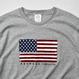 【予約商品5月末発送】The American flag  Tee  【Gray】
