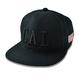 CAL.WEST COAST Flat Visor Cap【Black × Black】
