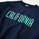 CALIFORNIA logo  heavy weight crewneck sweatshirt【Navy】