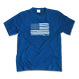 The American flag  Tee  【 Light Indigo】