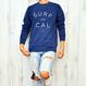 SURF IN CALIFORNIA crewneck sweatshirt【Indigo】