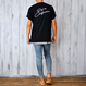 Surf in California Photo  Tee  【Black】