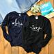 aloha good luck crewneck sweatshirt【Navy】