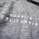 WEST COAST Sleeve Logo hooded sweatshirt【Gray】