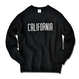 CALIFORNIA logo  heavy weight crewneck sweatshirt【Black】