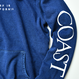 WEST COAST Sleeve Logo hooded sweatshirt【Indigo】