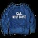 The American flag crewneck sweatshirt【Indigo】