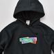 GMCAL Boxlogo Embroidered hooded sweatshirt【Black】