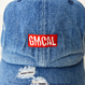 GMCAL Box Logo Damage Cap【Medium Denim】