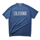 CALIFORNIA crack logo Pigment-Dyed  Tee【Blue Jean】
