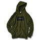 ALOHA GOOD LUCK BOX LOGO hooded sweatshirt【Army】