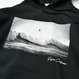 SURF IN CALIFORNIA Photo hooded sweatshirt【Black】