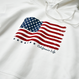 The American flag hooded sweatshirt【White】