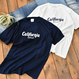 california west coast logo Tee  【Navy】