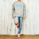 CALIFORNIA logo  heavy weight crewneck sweatshirt【Gray】